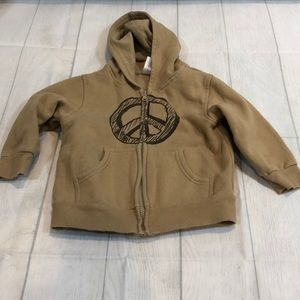 Gymboree Peace Sign Full Zip Sweatshirt